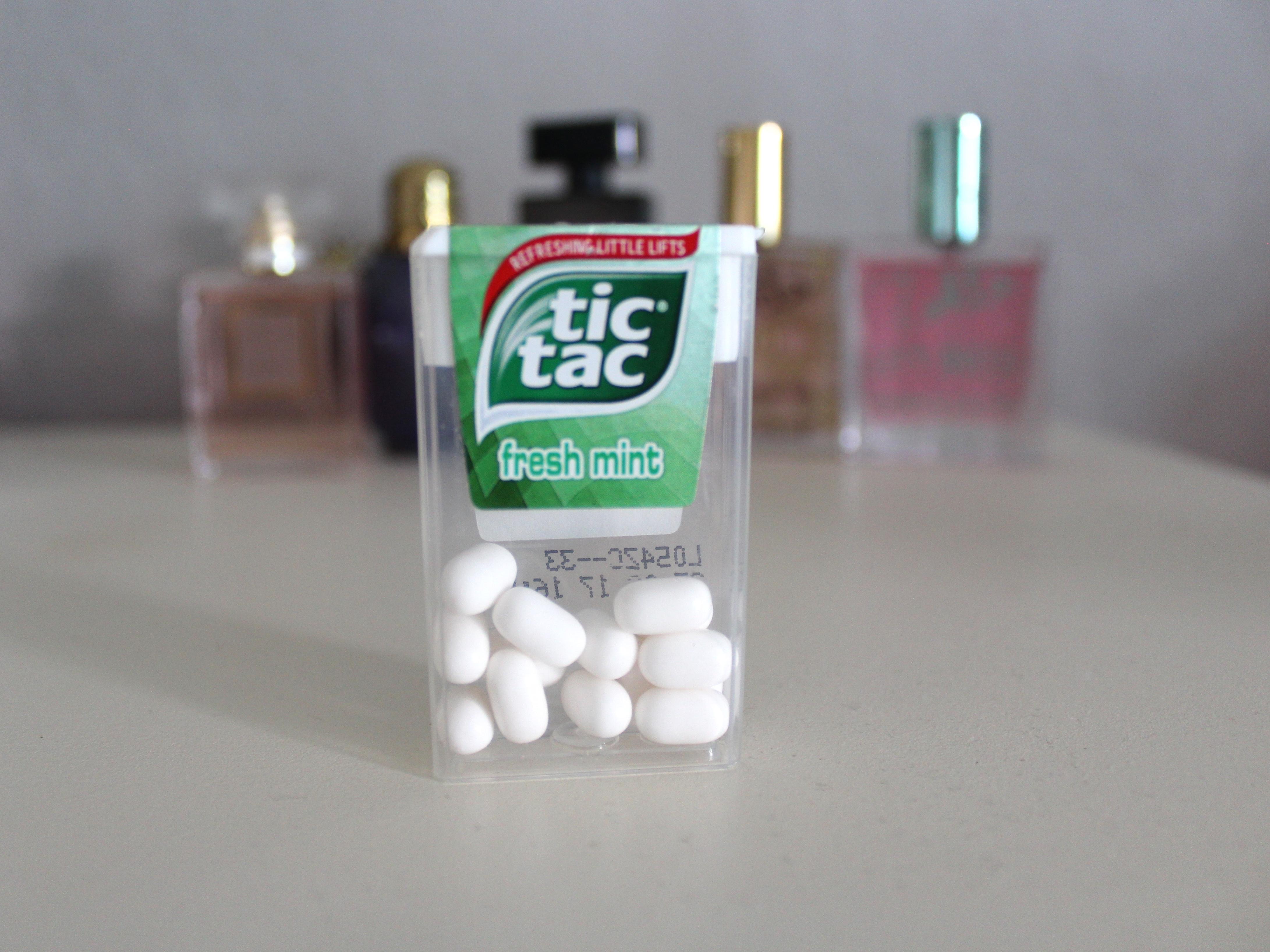 Tic tacs box