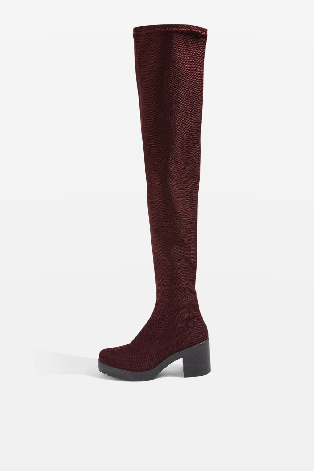 Topshop black knee high boots