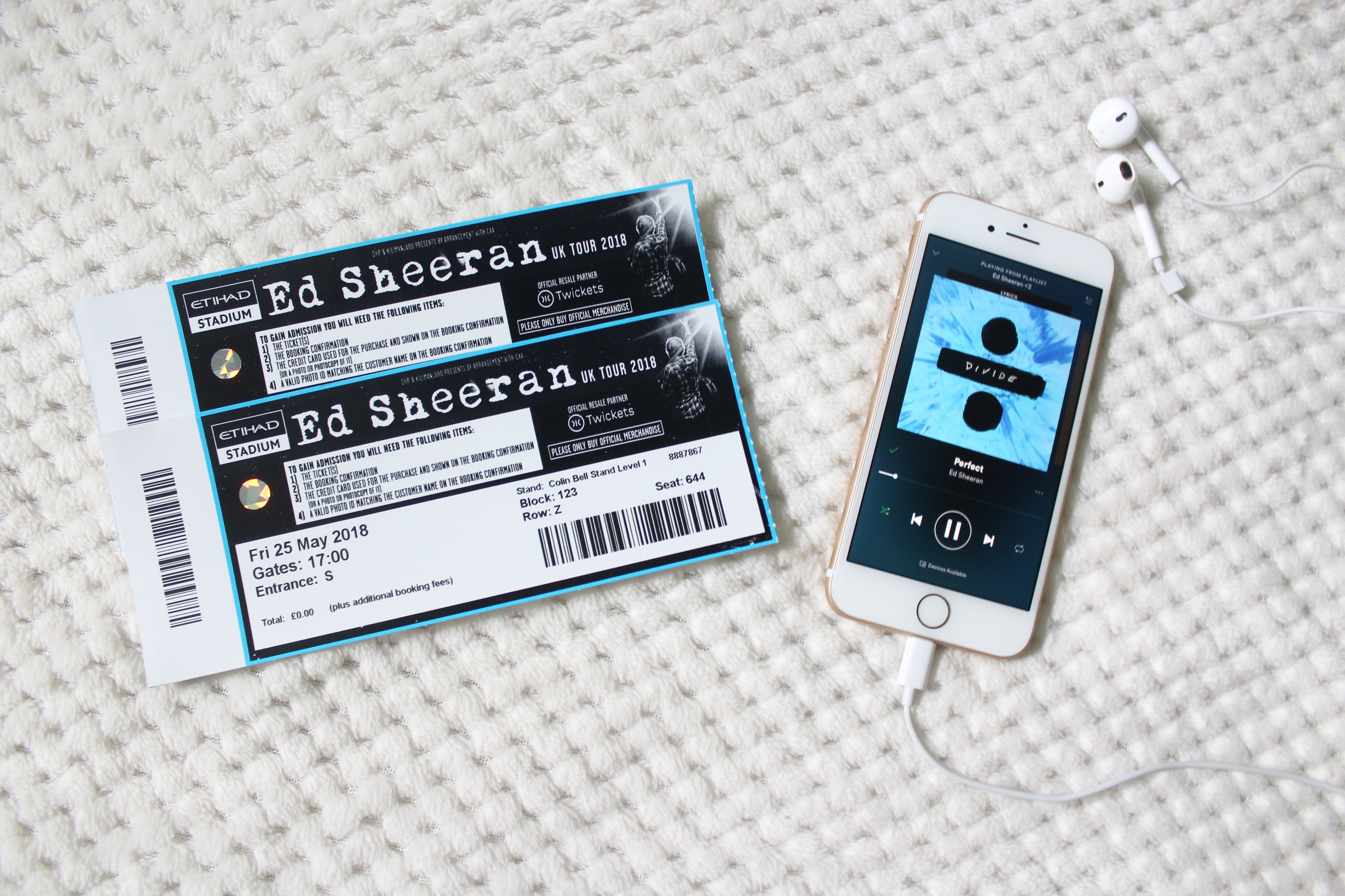 Ed Sheeran concert experience - My Blurred World